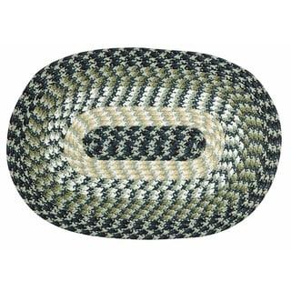 Better Trends Alpine Braided Stripe Indoor Oval Rug