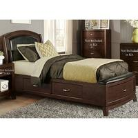 Avalon Dark Truffle One Sided Storage Bed