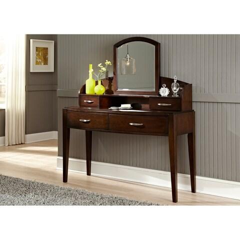 Avalon Dark Truffle Desk/ Vanity Hutch