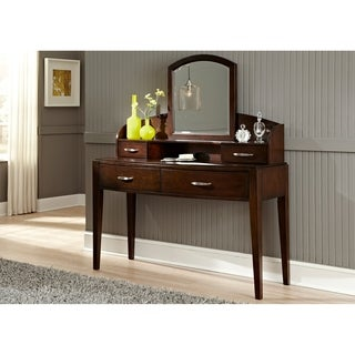 Avalon Dark Truffle Desk/ Vanity Hutch