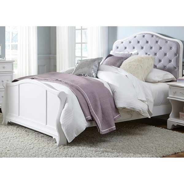 Arielle Antique White Panel Bed