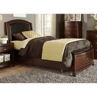 Avalon Dark Truffle Leather Storage Bed