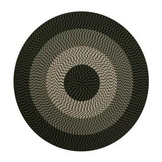 Better Trends Alpine Braided Round Stripe Rug (6')