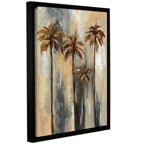 Silvia Vassileva's Palm Trees II, Gallery Wrapped Floater-framed Canvas