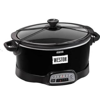 Weston 7 Qt Programmable Slow Cooker with Lid Latch Strap