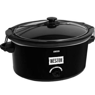 Weston 5 Qt Slow Cooker with Lid Latch Strap