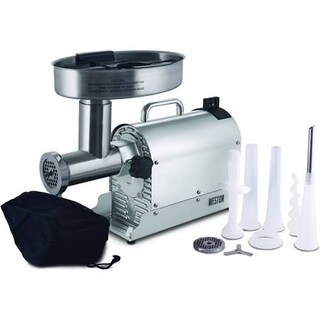 Weston Pro Series #12 Meat Grinder - 1 HP - Stainless Steel