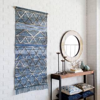 "Yngve Blue 30"" x 60"" Traditional Decorative Tapestry"