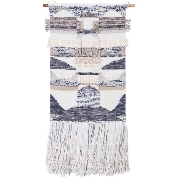 "Bhavana Cream 24"" x 52"" Traditional Decorative Tapestry"