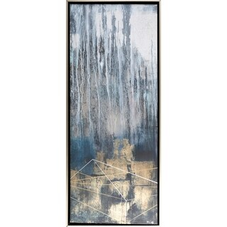 """Starfall Contemporary Abstract 21"""" x 51"""" Hand Painted Canvas Wall Art"""