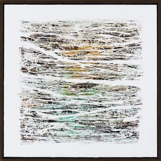 """Birch Contemporary Abstract 40"""" x 40"""" Hand Painted Paper Wall Art"""