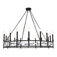 "Exeter Collection Chandelier  D48.5"" H12.5"" Vintage Bronze Finish"