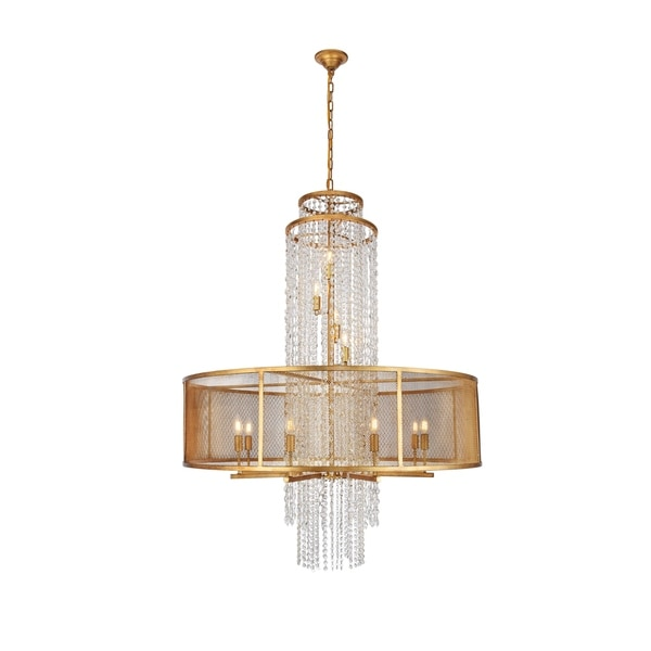 """Legacy Collection Chandelier D42"""" H56"""" Golden Iron Finish"""