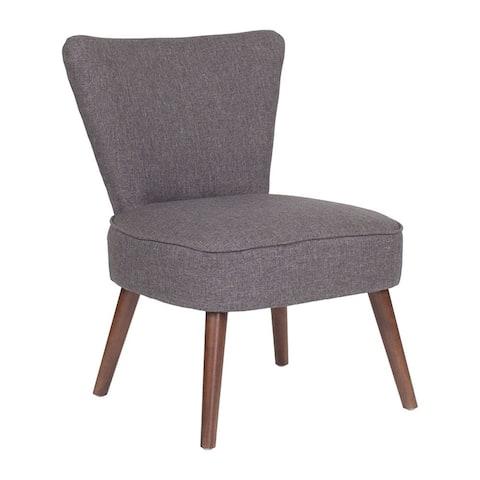 Flash Furniture Hercules Holloway Series Gray Fabric Retro Accent Side Chair