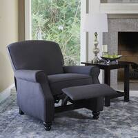 ProLounger Grey Herringbone Push-back Recliner Chair