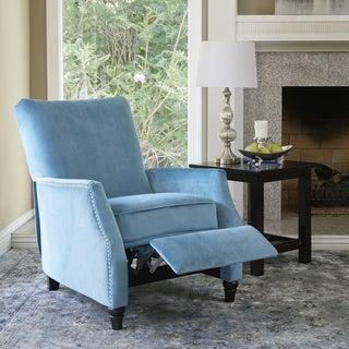 ProLounger Turquoise Velvet Push Back Recliner Chair