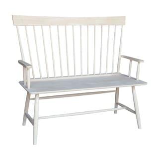 International Concepts Windsor Wood Arm Bench