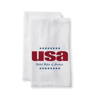 "Uplifting Linens Towels ""USA"" -Set of 2"