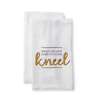 """Uplifting Linens Towels """"When Life Gets"""" -Set of 2"""