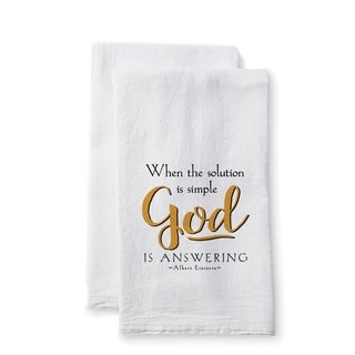 """Uplifting Linens Towels """"When the Solution"""" -Set of 2"""
