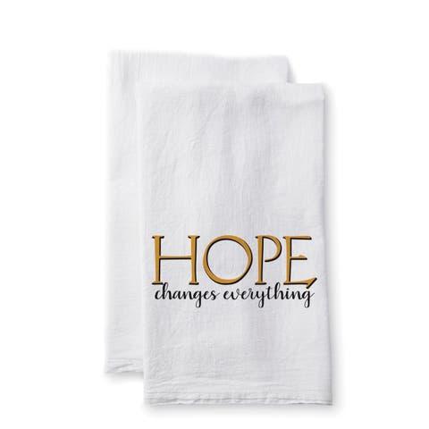 "Uplifting Linens Towels ""Hope Changes"" -Set of 2"