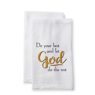 "Uplifting Linens Towels ""Do Your Best"" -Set of 2"