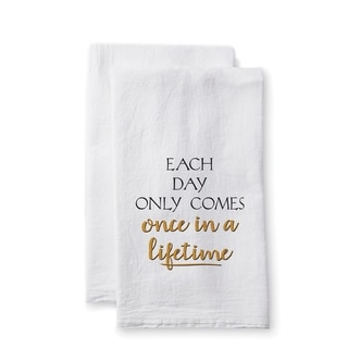 "Uplifting Linens Towels ""Each Day Only"" -Set of 2"