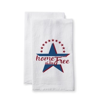 "Uplifting Linens Towels ""Home of the Free"" -Set of 2"