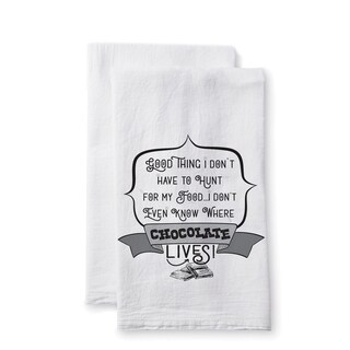 "Uplifting Linens Towels ""Good Thing"" -Set of 2"