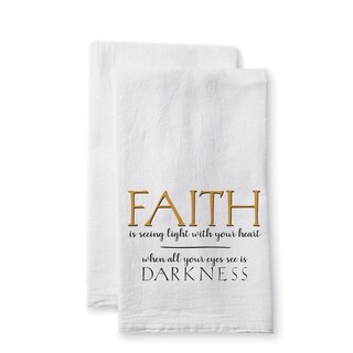 "Uplifting Linens Towels ""Faith is Seeing"" -Set of 2"