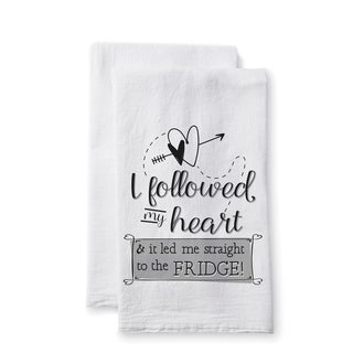 "Uplifting Linens Towels ""I Followed My Heart"" -Set of 2"