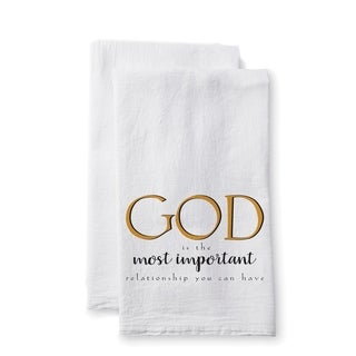 """Uplifting Linens Towels """"God is the Most"""" -Set of 2"""