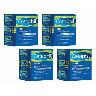 Cetaphil Men 4.5-ounce Daily Clean Bars (Pack of 12)
