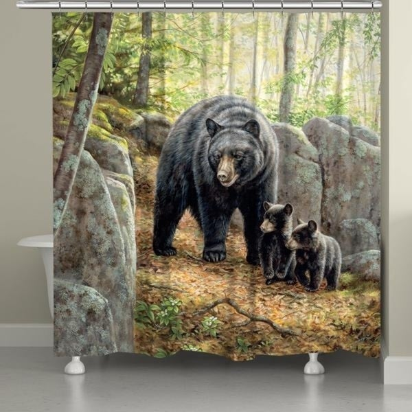 Shop Laural Home Bear And Cubs Shower Curtain