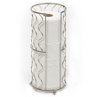 Richards Homewares Free Standing Toilet Paper Storage Reserve - Modern Bathroom Space Saver