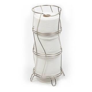 Richards Homewares Toilet Paper Storage Reserve Holder - Satin Nickel Finish  Round & Wavy Design|https://ak1.ostkcdn.com/images/products/18152731/P24302483.jpg?impolicy=medium