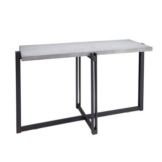 Dakota Console Table with Concrete Finish Top