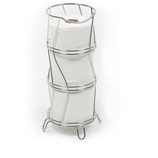 Richards Homewares Toilet Paper Storage Reserve Holder - Chrome Finish  Round & Wavy Design|https://ak1.ostkcdn.com/images/products/18152746/P24302484.jpg?impolicy=medium