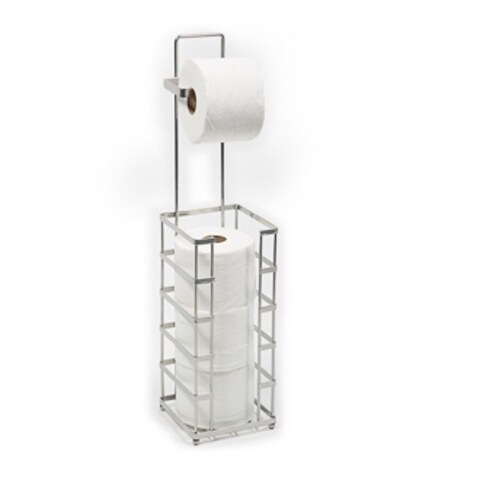 Richards Homewars Chrome Square Toilet Paper Reserve With Hook