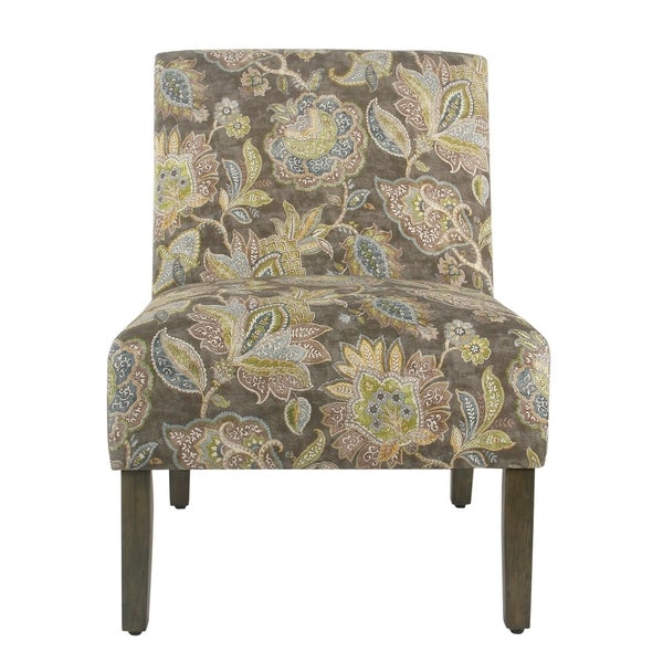 Shop Homepop Carson Armless Accent Chair Gray Floral
