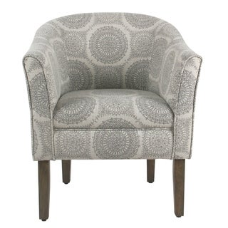 HomePop Tub Shaped Accent Chair - Gray Medallion