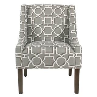 HomePop Grey Fabric Swoop Accent Chair