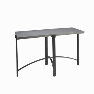 Lewis Distressed Dark Bronze Iron Console Table with Metal Top