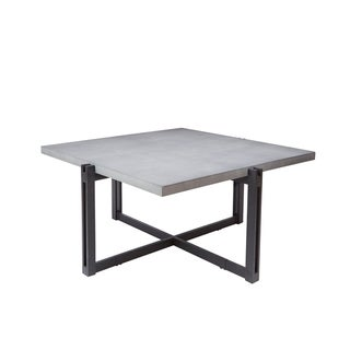 Dakota Coffee Table with Square Concrete Finish Top