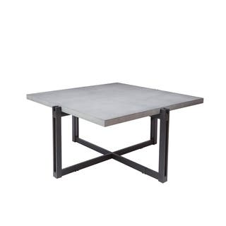 Buy square coffee tables online at overstock our best living dakota coffee table with square concrete finish top watchthetrailerfo