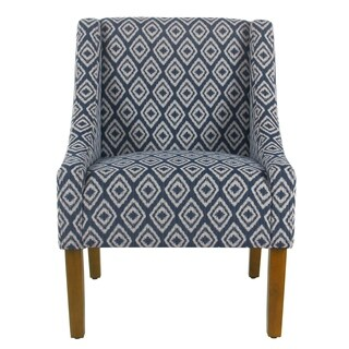 HomePop Modern Swoop Accent Chair - Indigo