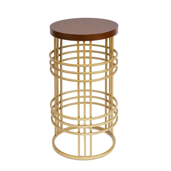 Rochelle Round Accent Table, Gold