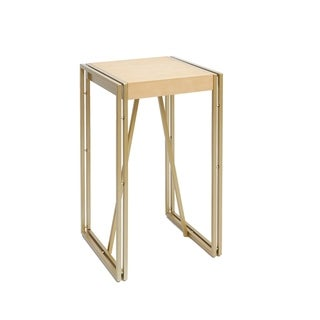 Hudson Wood and Metal Accent Table, Gold
