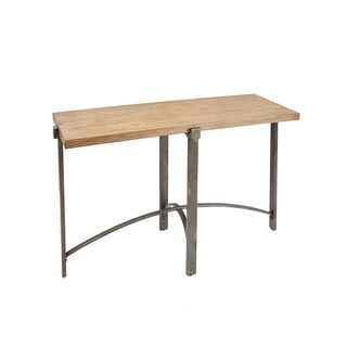Lewis Wood Top Metal Base Console Table