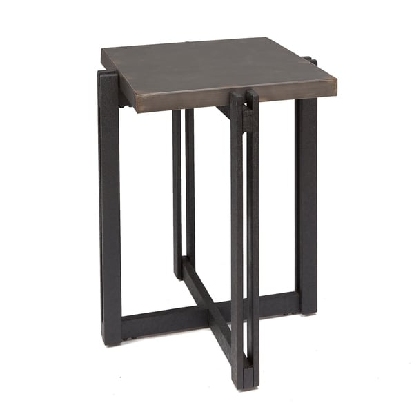 Dakota Accent Table with Square Metal Top